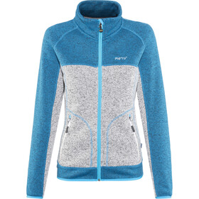 Meru Märsta Knitted Fleece Jacket Women seaport melange